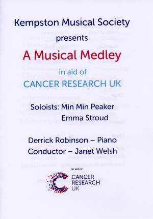 Musical Medley Concert in aid of Cancer Research UK